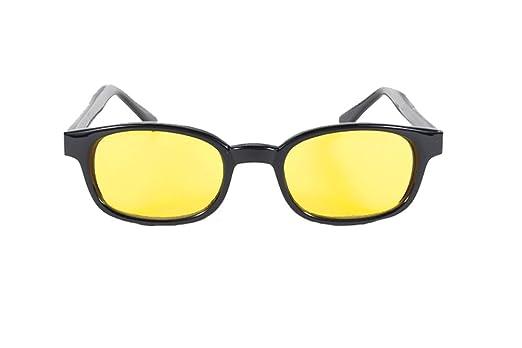 Amazon.com: KD Negro Marco amarillo de la lente Wayfarer ...