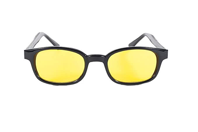 00cf64d139a Image Unavailable. Image not available for. Color  Kd s Black Frame Yellow  Lens Wayfarer Retro Sunglasses