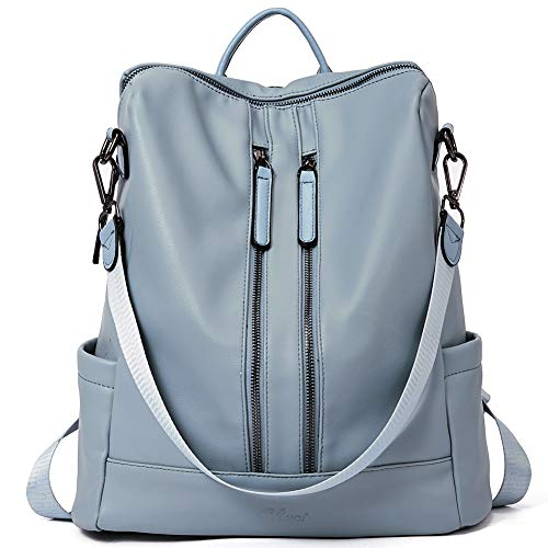 Women Backpack Purse Leather Fashion Travel Large Casual Covertible Ladies Shoulder Bag Blue ()