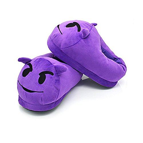 Demon Shoes Cute Sleeping Demon ¡ Slippers etc Warm EMOJ Face Smiley Adult Poop Winter Unisex Fun vU7xqIFw
