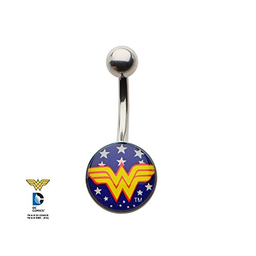 DC Wonder Woman Logo Belly Button Ring Sexy Accessories Gift (Sexy Wonder Woman Cosplay)