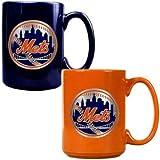 New York Mets 2pc Multi Color Coffee Mug Set