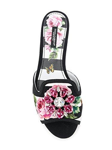 Dolce E Gabbana Sandali Donna CQ0023AN270HWI10 Pelle Bianco/Nero