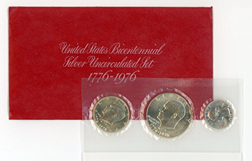 1976 S Bicentennial Silver 3 Coin Set-OGP Brilliant Uncirculated