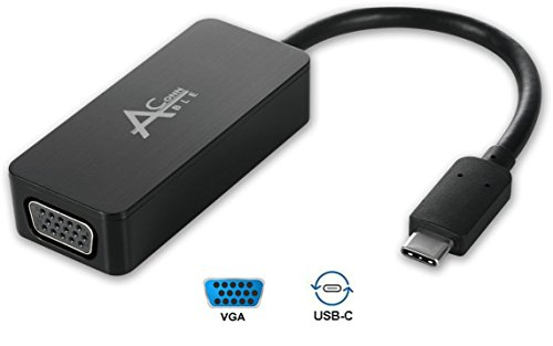 Ableconn USBC-VGAA USB 3.1 Type C (USB-C) to VGA Adapter (Thunderbolt 3 Port Compatible)