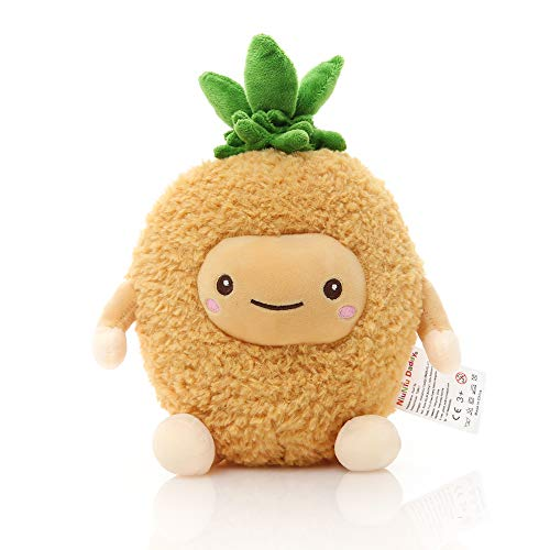Niuniu Daddy 12 inch Pineapple Food Plush Toys Shaped Fruit Series Cushion Doll Super Soft Kawaii Squishable Cute Stuffed Pillow