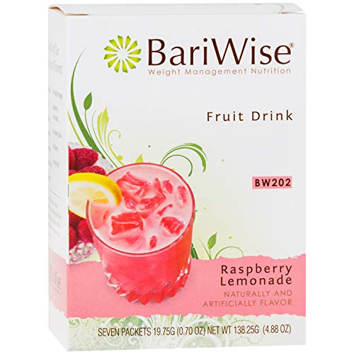 BariWise High Protein Powder Fruit Drink (15g Protein) / Low-Carb Diet Drinks - Raspberry Lemonade (7 Servings/Box) - Fat Free, Low Carb, Low Calorie, Sugar Free ()