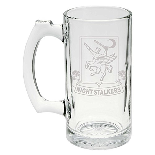 US Army - 160th Special Operations Aviation Regiment (SOAR) DUI Patch Etched Stein Glass 25oz, Mug - Dui Military Patch