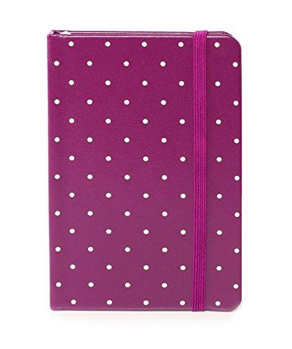 Kate Spade Take Note Medium Notebook, Plum Larabee Dot, Flamingo Dot (174158) ()