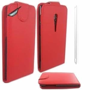 Voltear Concha Caso Cubrir Y Protector De Pantalla Para Sony Xperia Ion / Red