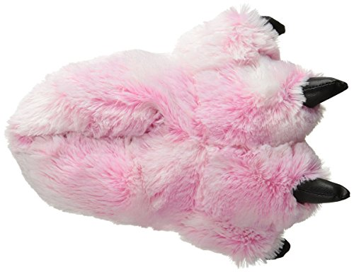 Wishpets Furry Tiger Slippers (Pink, Large) by Wishpets