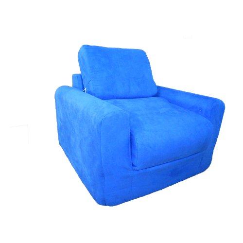 Fun Furnishings Chair Sleeper, Royal Blue Micro Suede