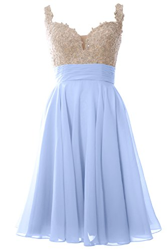 Gown Straps Party Homecoming Short Women Macloth Blue Formal Sky Dress Lace Prom Wedding 4LAjR5