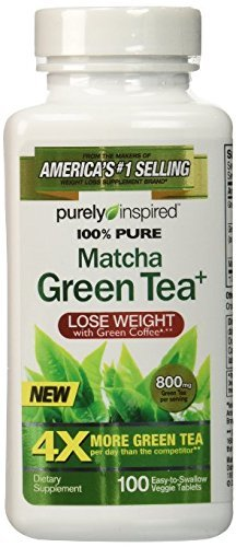 Purely Inspired 100% Pure Matcha Green Tea, 100 Tablets (Pack of 2) by Purely Inspired