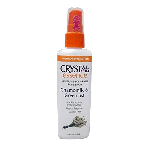 Crystal Essence Deodorant Spray, Chamomile & Green Tea,  4 oz, 2 Pack - Chamomile Essence