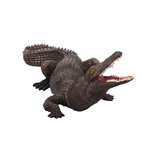 TOYMANY Nile Crocodile, 7.5'' High Realistic Plastic Animal Figure, Awesome Collection Decoration Learning Party Birthday Favors Gift for Boys Girls Children Toddler -