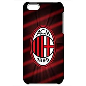 Associazione Calcio Milan Logo Phone Case for Iphone 5C 3D Black Slip On Cover