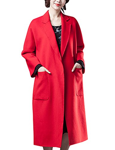 Longs 4 Rouge Face Style Cachemire Manteaux Youlee Hiver En Femmes Double Automne 8CTqnZvqw