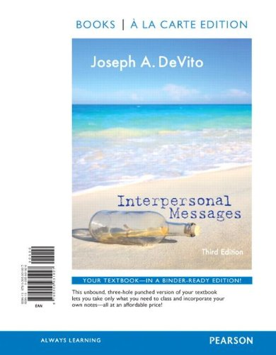 Interpersonal Messages, Books a la Carte Edition (3rd Edition)