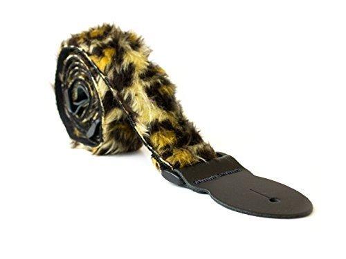 Soft Fur Design Adjustable Acoustic Electric Guitar Strap (Leopard Fur)