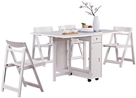 KXW Mesa Comedor,Mesa De Comedor Extensible, Moderna,Mesa Plegable ...