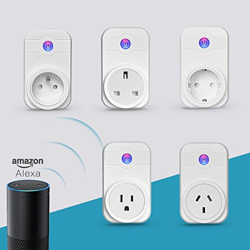 Mini Smart Plug, Smar Socket, No Hub Required, Wi-Fi, Works w/ Amazon Alexa and Google Home , Control your Devices from Anywhere, Occupies Only One Socket (1pack , 1 socket) -  Huainel