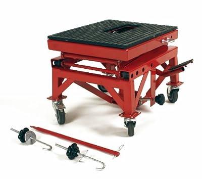 Dragway Tools 300 Lb Motorcycle Dirt Bike Stand Jack Lift Hoist Cart & Wheels