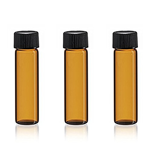 Elufly 5 Ml(1/6 Fl Oz) Amber Glass Bottles for Oil Perfume Liquild Samples 30 Units