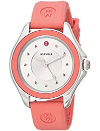 Women's 'Cape' Quartz Stainless Steel and Silicone Dress Watch, Color:Pink (Model: MWW27A000015)