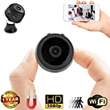 Mini Spy Camera Wi-Fi – 35mm Wireless Hidden Camera, Home Security System, Nanny Cam – HD Wide Angle Camera Loop Recording, Motion Detection, Night Vision + Memory Card Reader Duddy-Cam