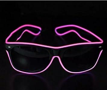 New LED Light Up Glasses for Rave Costume W//Battery Case Controller Toys
