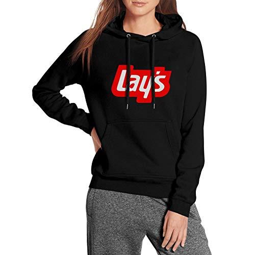 (Womens Black Hooded Lay's-Potato-Chips- Sweatshirt Heavy Blend Kangaroo Pocket Wool Warm Pullover Suit Hoodie )