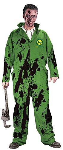 Adult Dirty Halloween Costumes (UHC Men's Fun World Bad Planning Dirty Mechanics Theme Adult Halloween Costume, OS)