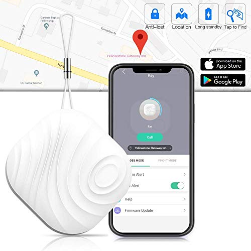 Key Finder Tracker for Wallet - Anti-Lost Key Finder Bluetooth Smart Tracker Locator for Find Cellphone, Glasses, Bags and Pet, Luxsure Item Finder Lost Keys Finder Compatible for iOS/Android (White)