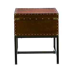 Southern Enterprises Voyager Espresso Trunk End Table