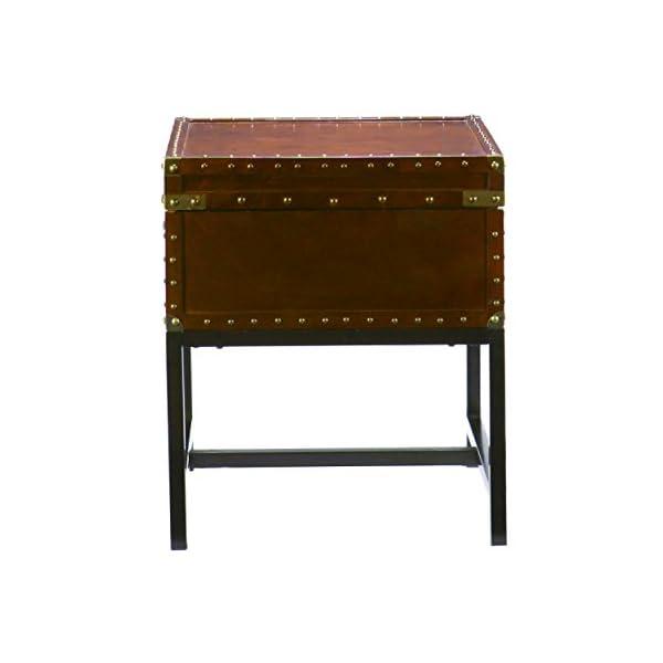 Southern Enterprises Voyager Espresso Trunk End Table 3
