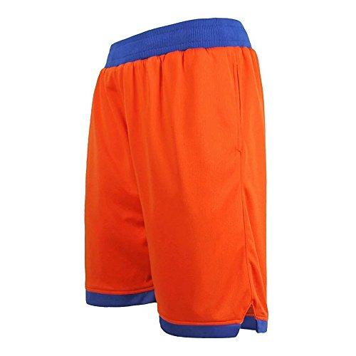 Zetti Mens Jersey Pants Soft Basketball Gym Fitness Shorts - Orange - 7XL Size (Capri Everlast)