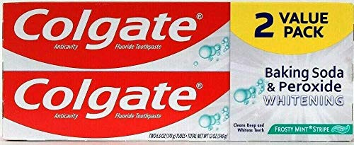 Colgate Colgate baking soda and peroxide whitening toothpaste, frosty mint – 6 ounce (twin pack), 12 Fl Oz