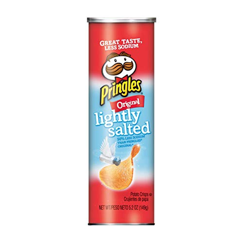(Pringles Potato Crisps Chips, Lightly Salted, Original Flavored, 5.2 oz)