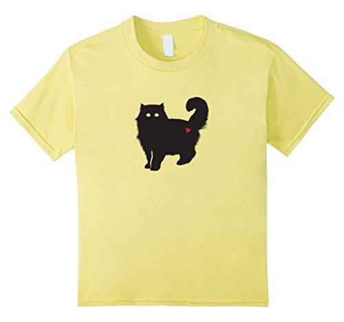 Kids Cute Kitten Silhouette Halloween Graphic Tee Heart t-shirt 6 (Guy Long Hair Halloween Costumes)
