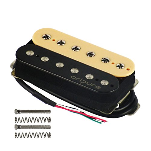 OriPure Alnico 2 Double Coil Guitar Humbucker Pickups Zebra Neck Pickup-Strong Powerful Sound
