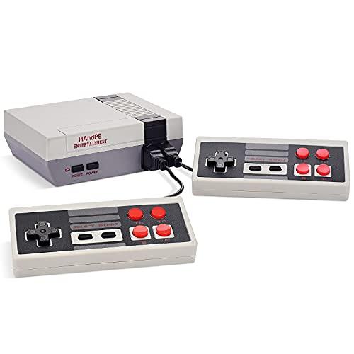 HANDPE 레트로 고전적인 미니 게임 콘솔린 게임 콘솔 내장 620 게임(일부 반복)이중 제어하는 8 비트 소형 게임 플레이어 비디오 TV 가 행복한 어린 시절의 기억