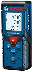 The Bosch blaze Pro GLM165-40 165 ft. Laser measure is a fully featured yet simple-to-use tool. It provides an easy-to-read backlit display that illuminates the measurements, and it delivers real-time distance, distance, area, volume and indi...