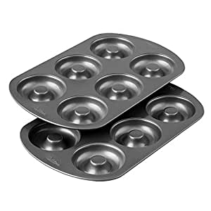 Amazon Com Wilton Non Stick 6 Cavity Donut Baking Pans 2