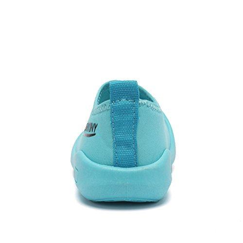 CIOR Kids Slip-on Casual Mesh Sneakers Aqua Water Breathable Shoes For Running Pool Beach (Toddler/Little Kid) SC1600 Blue 20 2