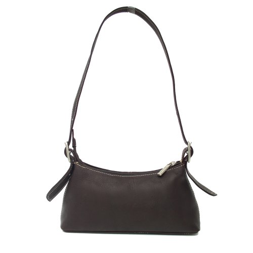 Piel Leather Small Shoulder Mini, Black, One Size, Bags Central