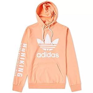 ADIDAS Men's Originals Pharrell Williams hu Hiking Hoodie Pink (Large)