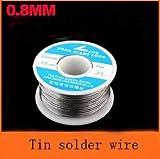 Jammas 50pcs/lot Wholesale Solder Wire reel 0.8mm 100g Tin Lead Melt Rosin Core Solder