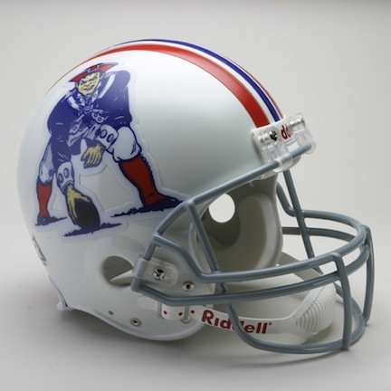 Boston Patriots (1965 - 1981) Riddell Full Size ''Old Style Throwback'' Authentic Football Helmet by Riddell