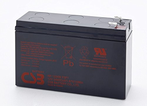 CSB HR1224W High Rate AGM Battery